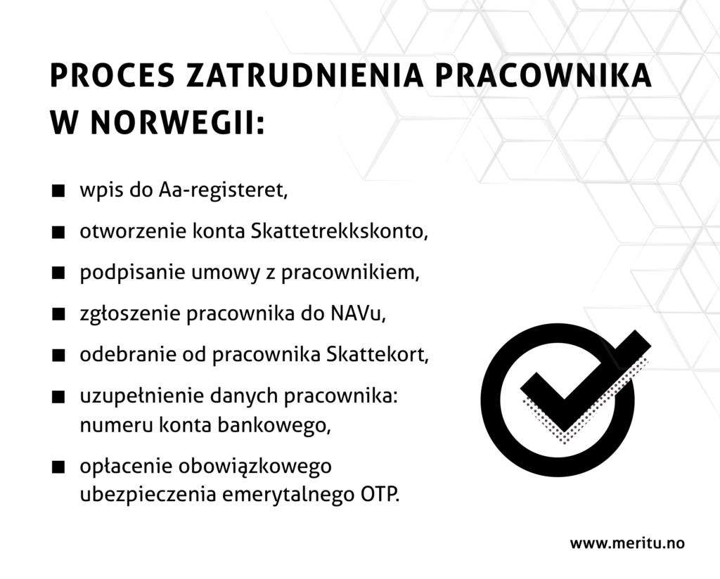 Proces zatrudniania pracownika w firmie w Norwegii